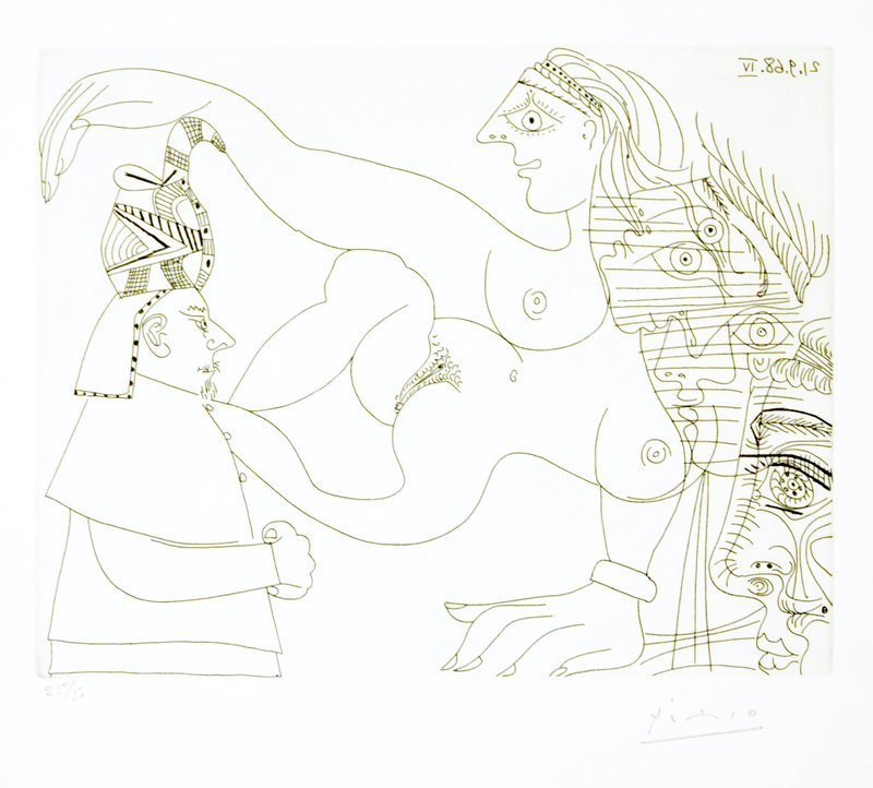 main work - Pablo Picasso, Untitled, 21.9.68.IV.