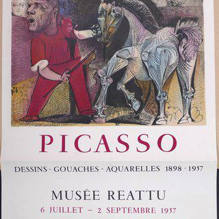 Picasso Vintage Exhibition Poster in Arles - 1957 art for sale
