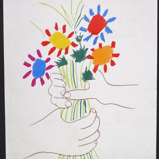 Bouquet of Peace - Vintage Offset Poster Stockholm Peace Conference art for sale