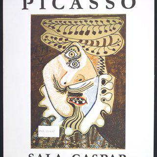 Picasso Vintage Exhibition Poster in Barcelona Sala Gaspar - 1974 art for sale