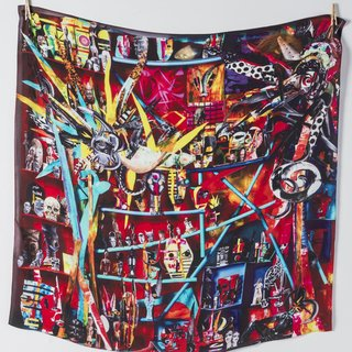 Hue Silk Scarf art for sale