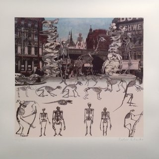 Ludgate Circus - Day of the Skeletons art for sale