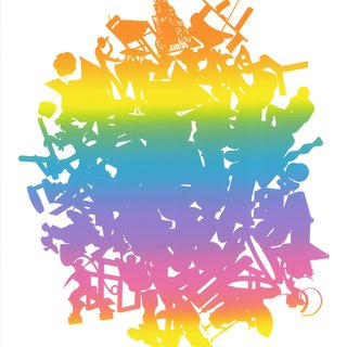 Untitled (Rainbow Sculpture Silhouette Pile) art for sale