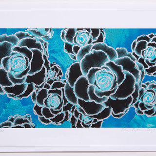 Silver Leafed Begonias art for sale