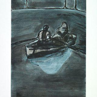 Two People at Night art for sale