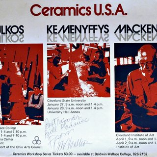 Ceramics USA: Voulkos, Kemenyffys, Mackenzie, signed by Peter Voulkos and dedicated to fellow artist Bill Radawec art for sale