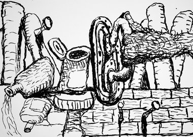 work by Philip Guston - Remains