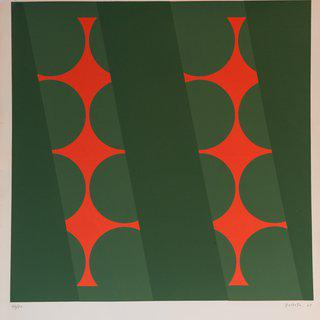 Untitled (Green & Red) art for sale