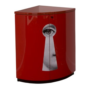 Serratura Corner Cabinet red art for sale