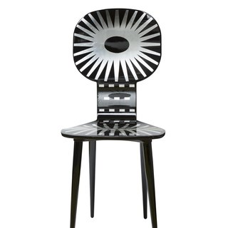 Raggiera Chair blk/silver art for sale