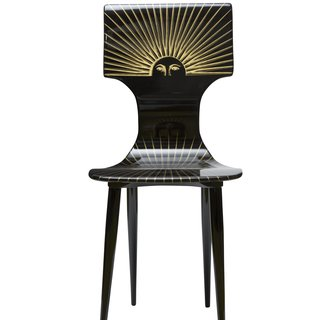 """Sole"" Chair gld/blk art for sale"