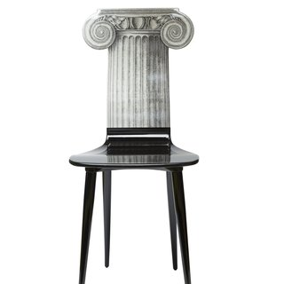 Capitello Jonico Chair blk/wht art for sale