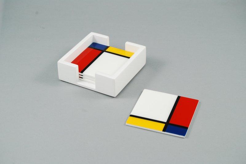 f75106f02 Piet Mondrian - Set of 4 coasters for Sale
