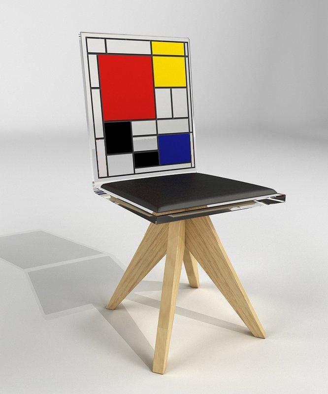 Mondrian Furniture piet mondrian - chair for sale | artspace