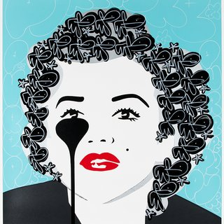 The Last Marilyn - Glossy Black Bunny Hair art for sale