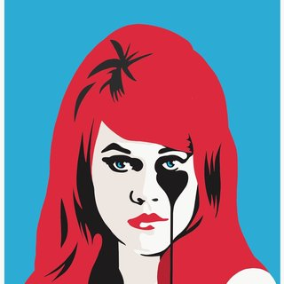 Jane Fonda's Nightmare - Red & Blue art for sale