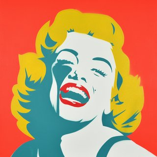 Screaming Marilyn - Green Goddess art for sale
