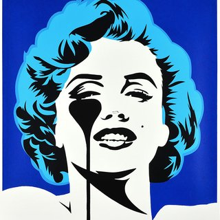 I DREAM OF MARILYN (GLACIER BLUE HAIR) art for sale