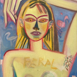 Feral Girl art for sale