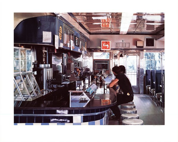 Ralph Goings - Blue Diner, Print