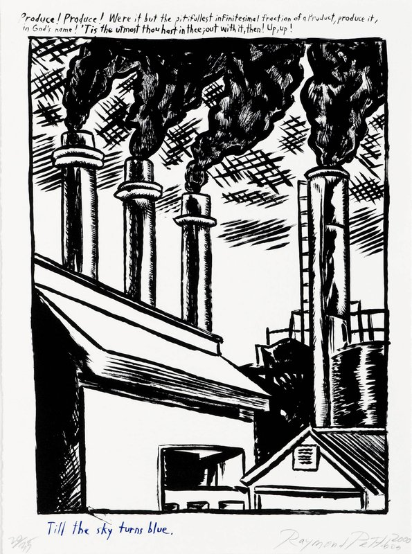 Raymond Pettibon, Untitled (Smoke Stacks)