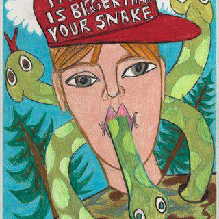 My Snake Man art for sale