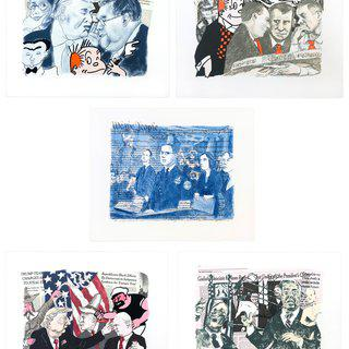 Untitled (Trump Impeachment Trial), Suite of Five Lithographs art for sale