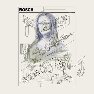 BOSCH 1 - Power Tool Series (After Da Vinci - Monalisa) art for sale