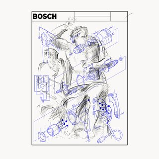 BOSCH 3 - Power Tool Series (After Michelangelo - Last Judgement of Christ) art for sale