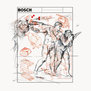 BOSCH 4 - Power Tool Series (After Michelangelo - Expulsion From Garden Of Eden) art for sale