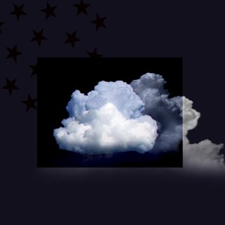 Clouds 3 / Flag / in 3D art for sale
