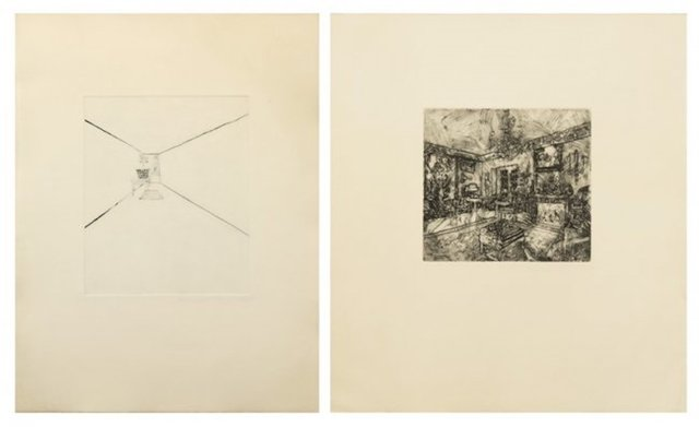 Richard Artschwager - Interior I; and Interior III