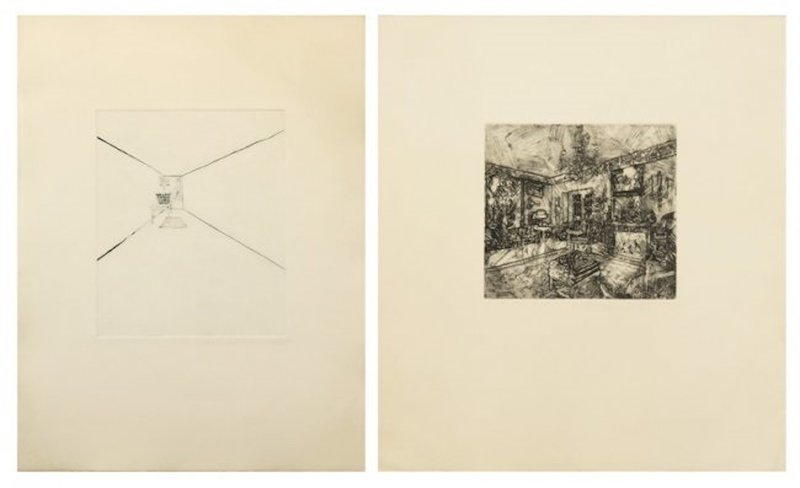 main work - Richard Artschwager, Interior I; and Interior III