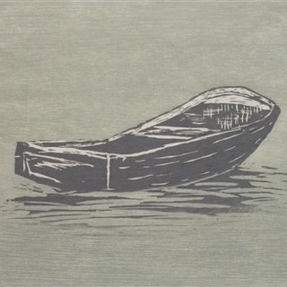 Boat (study for estuary) art for sale