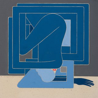 Richard Colman, Untitled Figure (BLUE)
