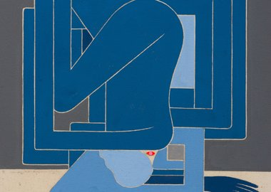 work by Richard Colman - Untitled Figure (BLUE)