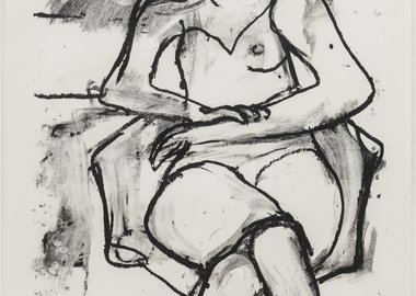 work by Richard Diebenkorn - Seated Woman with Hands Crossed