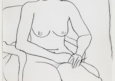 work by Richard Diebenkorn - Seated Nude