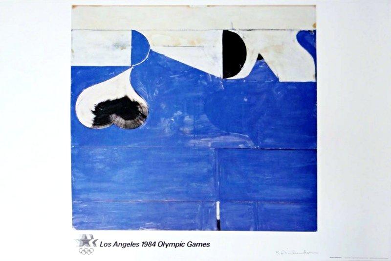 Richard Diebenkorn Los Angeles 1984 Olympic Games Pencil Signed
