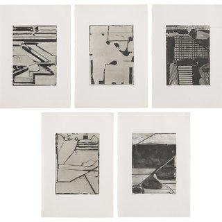 Five Aquantints with Drypoint art for sale