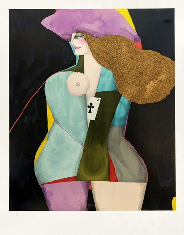 Richard Lindner - Ace of club, Print