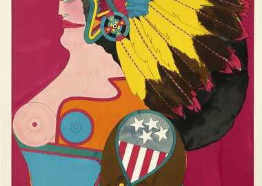 work by Richard Lindner - Miss American Indian