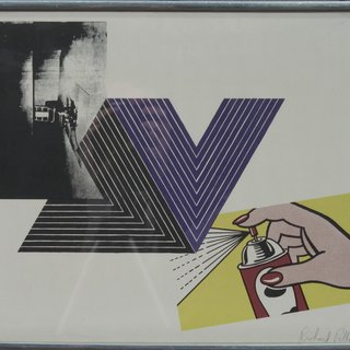 Warhol, Stella, Lichtenstein Combination art for sale