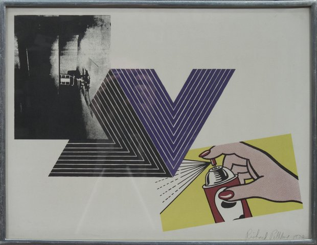 Richard Pettibone - Warhol, Stella, Lichtenstein Combination, Print