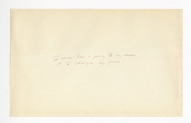 Richard Prince, Untitled (Joke) (I Never Had a Penny to My Name...)
