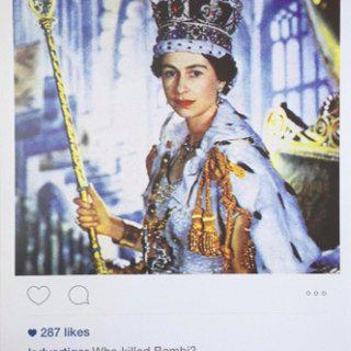 Instagram New Portraits - Queen Elizabeth II art for sale