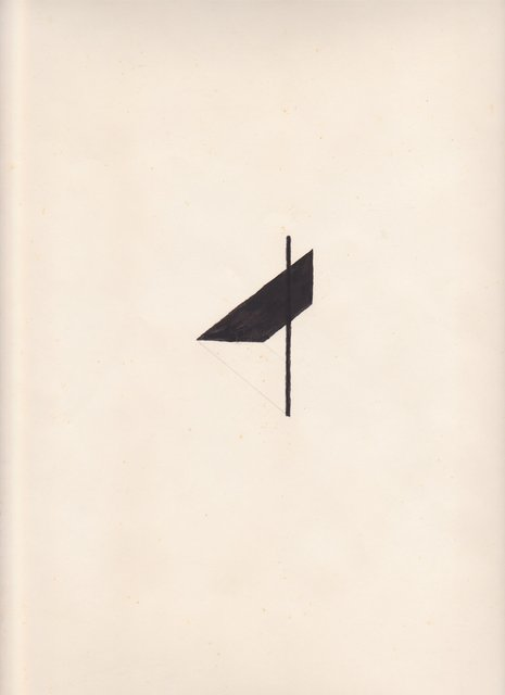 Richard Tuttle, This drawing was made by myself