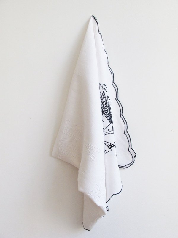 view:752 - Rirkrit Tiravanija, untitled, 2013 (a moment of life concretely and deliberately constructed by the collective organisation of a unitary ambience and a game of events) (handkerchief) -
