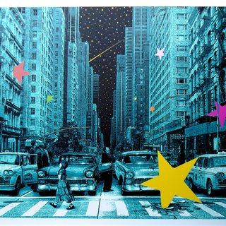 When you wish upon a star NYC (green edition) art for sale