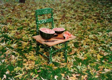 Robert Cumming - Watermelon and Chair, W. Suffield, Connecticut